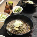 山菜そばランチ