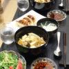 今日の食卓~中華丼ミニ餃子付き~