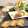 今日の食卓~イワシのパン粉焼き・キャベツ焼き・クリームスープ~
