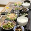 今日の食卓~青椒肉絲とお刺身中華風サラダ~